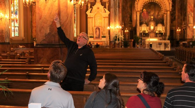 Docent Brings a World of Knowledge to Basilica Tours