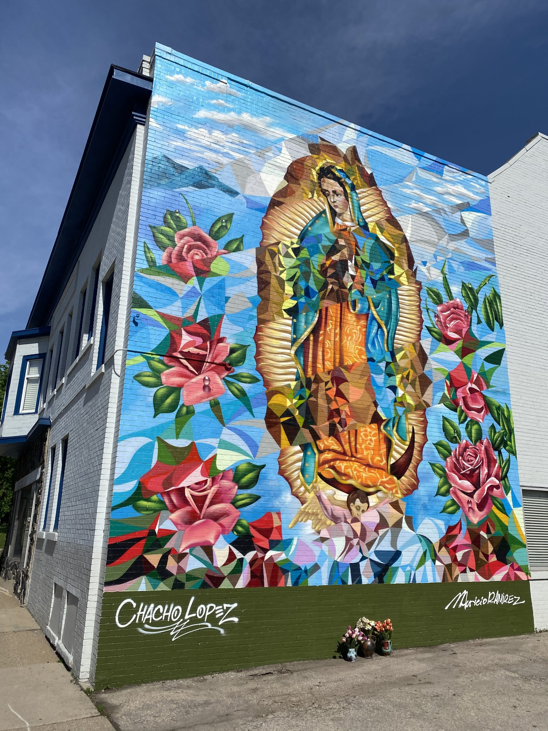 "mural titled ""Our Lady of Guadalupe"""